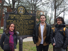 Louise, Michael and me at the Georgia Tech