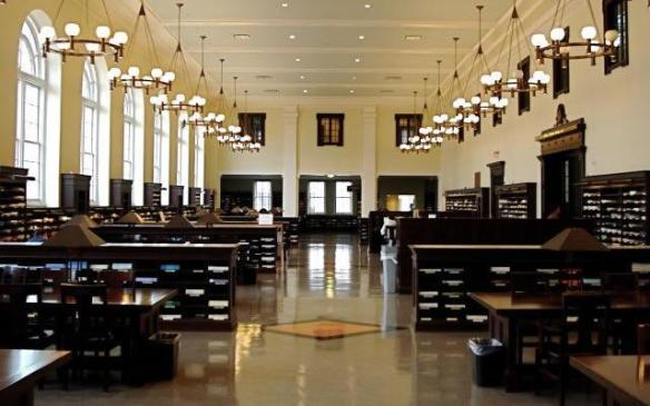 The Emory Library reading room